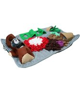 AFP Dig it -rectangle fluffy mat with one cute toy